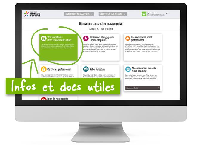 Infos et docs utiles ESPACE PRIVÉ