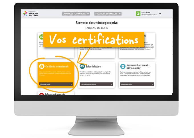 Certifications ESPACE PRIVÉ Institut François Bocquet